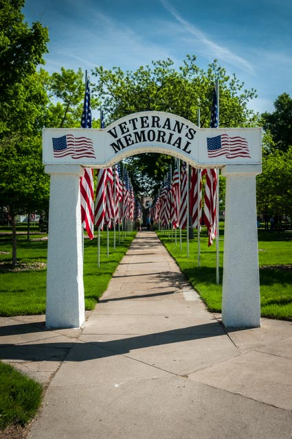 Veteran's Memorial Park Entrance
